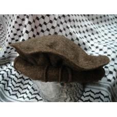 Афганская шапка - пуштунка (пакол), цвет: тёмно-коричнеый