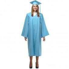 Мантия и шапочка (конфедератка) выпускника, магистра и бакалавра. Голубая