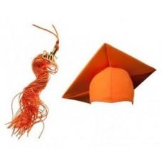 Конфедератка с кисточкой. Цвет оранжевый