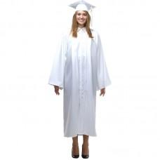 Мантия и шапочка (конфедератка) выпускника, магистра и бакалавра. Белая