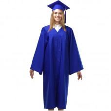 Мантия и шапочка (конфедератка) выпускника, магистра и бакалавра. Синяя
