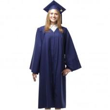 Мантия и шапочка (конфедератка) выпускника, магистра и бакалавра. Темно-синия