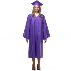 Мантия и шапочка (конфедератка) выпускника, магистра и бакалавра. Фиолетовая