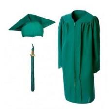 Мантия и шапочка (конфедератка) выпускника, магистра и бакалавра. Зеленая