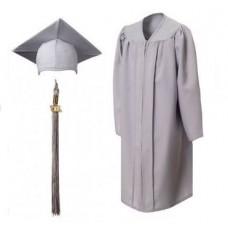 Мантия и шапочка (конфедератка) выпускника, магистра и бакалавра. Серая