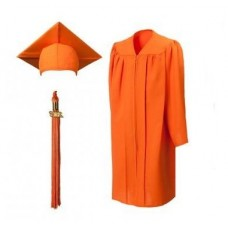 Мантия и шапочка (конфедератка) выпускника, магистра и бакалавра. Оранжевая