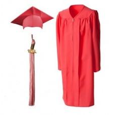 Мантия и шапочка (конфедератка) выпускника, магистра и бакалавра. Розовая