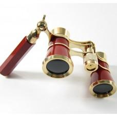 Театральный бинокль - лорнет (красный). Lorgnette Opera Glasses