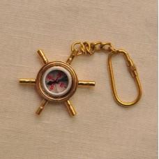 Брелок - компас в штурвале