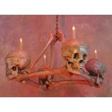 Люстра черепа и кости