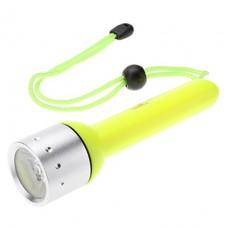 Small Sun ZY-F1 Водонепроницаемый LED фонарь для подводного плавания (180LM, 4xAA, желтый)