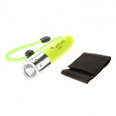 водонепроницаемый 1-режим CREE XM-L T6 дайвинга светодиодный фонарик (800LM, 2xCR123A, желтый)