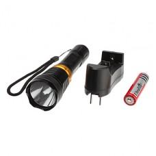 Водонепроницаемый 5-режиме Cree XR-E Q5 светодиодный фонарик дайвинга набор (200LM, 1x18650)