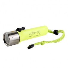поп-Lite F2 водонепроницаемый 1-Mode Cree XR-E Q5 дайвинга светодиодный фонарик (100lm, 4xAA, желтый)