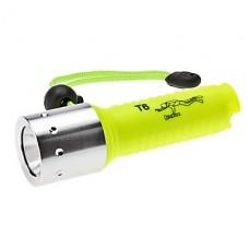 UltraFire водонепроницаемый 5-режим CREE XM-L T6 дайвинга светодиодный фонарик (700lm, 1x18650, желтый)