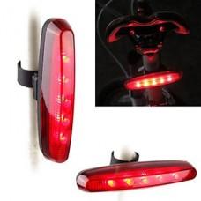 4-Mode 5-LED водонепроницаемый Флеш-Установившиеся Гнать-Погоня хвост велосипедов огни Свет безопасности (AAA * 2)