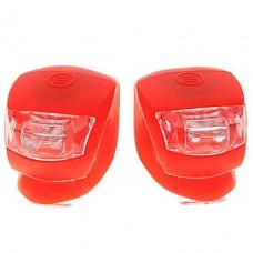 2-LED 3-режиме противотуманные велосипед свет - красный (пара / 2 * CR2032)