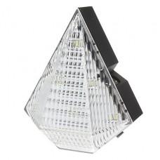3-Mode 8-LED белый нейтральный свет велосипед Велоспорт заднего хвоста Лазерная лампа (прозрачный белый + черный)