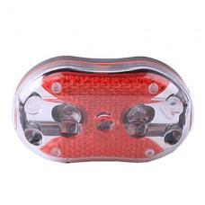 2-режим Хвост 8-LED Red Light велосипед безопасности лампа с красные лазеры (2 х ААА)