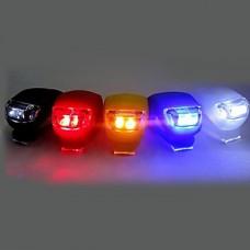 3-Mode 2-LED велосипедов переднего света (2xCR2032, assortted цветов)