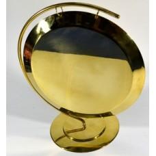 Гонг ударный золотой, со стойкой