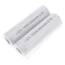 GTQQ GTL Защищенные 900mAh 3.7V 14500 аккумуляторная батарея (2-Pack)