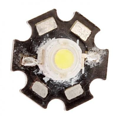 1W 7000K Белый светодиодный излучатель пластины металла с крышкой (70LM, 3,5 В)