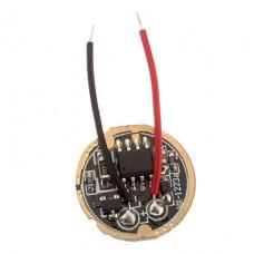 17мм 1050mA Single Mode Регулируемый светодиодный драйвер Схема для фонарика DIY (DC 3 ~ 4,5 В)