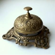 Звонок бронзовый офисный на трех лапах