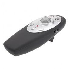 E-mail Мультимедиа Интернет Обои для рабочего красный лазерный Wireless Presenter с трекболом Мышь (2 АА)