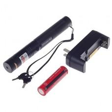 303 8-в-1 зеленая лазерная указка с батареей / Charge (5W, 490-560 нм, 1 х 18650, черный)