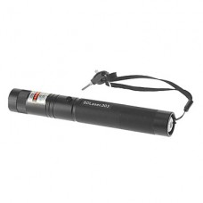 SDLaser.303 Блокируемая зеленая лазерная указка с зарядное устройство и аккумулятор (532 нм, 1x18650, черный)