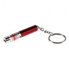 2-в-1 красный лазер + LED White Light мини-фонарик брелок (3xLR41)