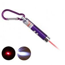 2 в 1 красная лазерная привел брелок - фиолетовый
