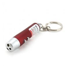 3-в-1 ультрафиолетового излучения 1 мВт красный лазер фонарик (белый свет, разных цветов)