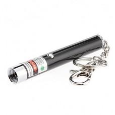 2-в-1 1 мВт 532nm зеленая лазерная указка брелок со специальным эффектом (1xAAA)