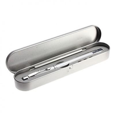2-Mode алюминиевого сплава светодиодный фонарик набор (3xar3, серебро)