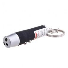 10-Pack красный лазер + белый свет + УФ светодиодный фонарик Keychain (3xLR44, Random Color)