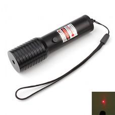 высокая производительность красный лазерный указатель с аккумулятором (5 мВт, 650 нм, черный)