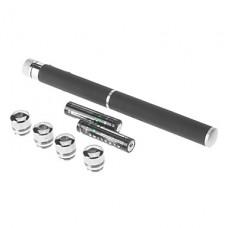 5-режиме ручка-образная Зеленая лазерная указка (532, 2 АА, черный)