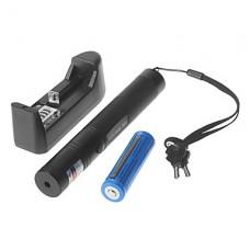 SDLaser.301 Блокируемая зеленая лазерная указка с зарядное устройство и аккумулятор (532 нм, 1x18650, черный)