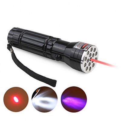 15 LED + 1 лазер + ультрафиолетовый фонарик