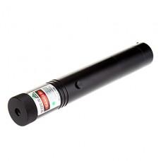 302 запираемый Масштабируемые Зеленая лазерная указка (1x18650/2xCR123A, черный, 5 мВт, 532 нм)