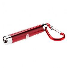 3-в-1 красный лазер + белый свет + УФ светодиодный мини-фонарик брелок (3xLR44)