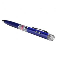 3 в 1: шариковая ручка, 2-режимный фонарик и красная лазерная указка (5mW)