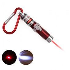 2 в 1 красная лазерная привел брелок - красный