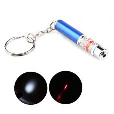 2 в 1 главе и красный фонарик лазерная указка с брелок синий