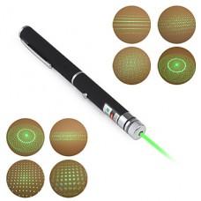 5-в-1 (5 рисунков) 5 мВт 532 нМ астрономическая зеленая лазерная указка (2хААА)