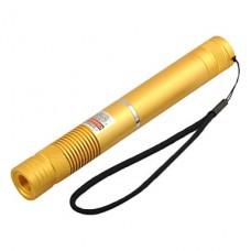 LT-G008 фонарик образный Зеленая лазерная указка (1 мВт, 532 нм, 1x18650, Золотой)
