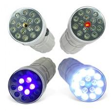 CSI 3-режимный 15 LED фонарь с лазером и ультрафиолетовым светом (10440, AAA)